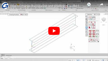 How to change the location and the position of scribe lines on DXF and NC files in Autodesk Advance Steel 2020 roxbox