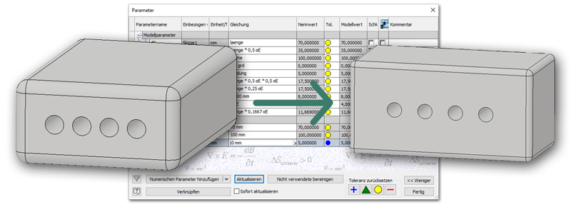 Parameter in Autodesk Inventor