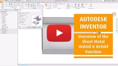 b2ap3 medium Inventor Sheet Metal Unfold Refold Function